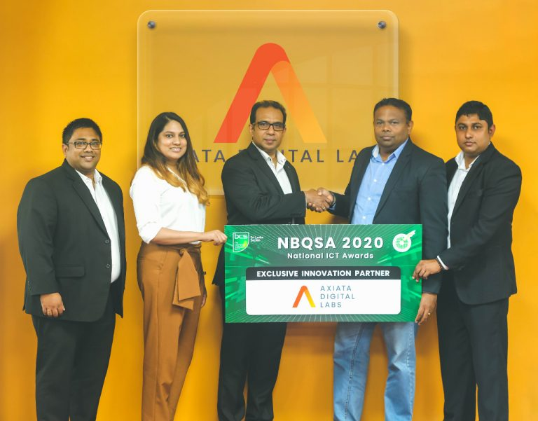 From left: Sanharsha Jayatissa - Associate Vice President - Global Operations and Client Services, ADL; Liara Ibrahim - Marketing Manager, ADL; Thushera Kawdawatta - CEO, ADL; K V Kuganathan - Chairman, BCS Sri Lanka Section, Rajeewa George - BCS Committee.